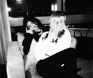 kylie jenner, hailey baldwin, and friends image