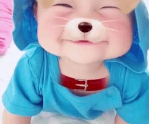 baby, dog, and ulzzang image