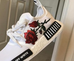 shoes, rose, and white image