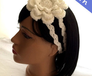 etsy, hair accessories, and crochet pattern image