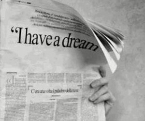 Dream, black and white, and newspaper image