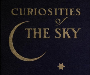 book, sky, and moon image