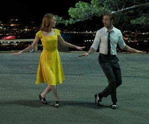 la la land, dress, and emma stone image