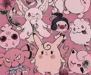 pokemon, pink, and wallpaper image