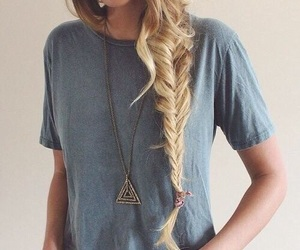 braid, necklace, and tshirts image