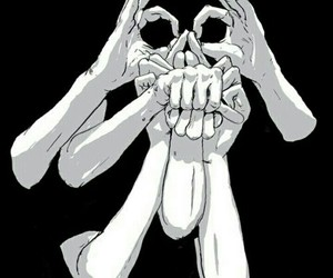 hands, skull, and art image