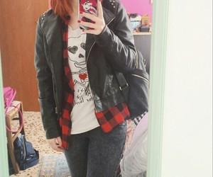 girl, redhead, and skull image