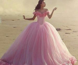 dress, pink, and princess image
