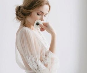 bridal, wedding gown, and feminine image
