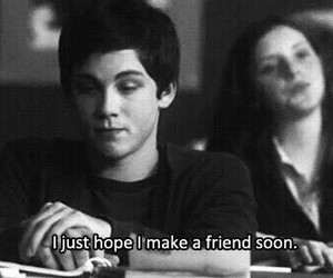friends, logan lerman, and black and white image