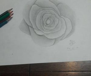 beauty, pen, and pencil image