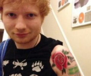 ed sheeran and tattoo image