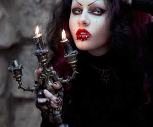 black, gothic, and candles image
