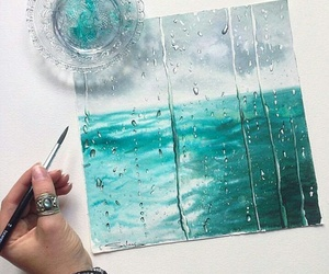 art, blue, and sea image