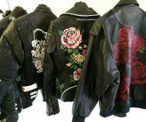 fashion, leather, and jacket image