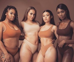 color, feminist, and nude shade image