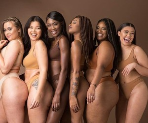 color, colored girls, and nude shade image