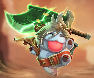 riven, poro, and leagueoflegends image
