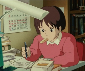 anime, study, and whisper of the heart image
