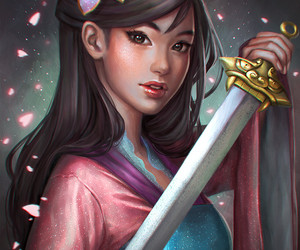 mulan, disney, and art image