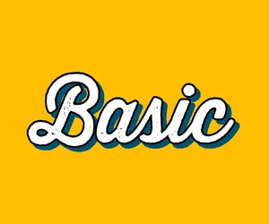 basic, yellow, and indie image