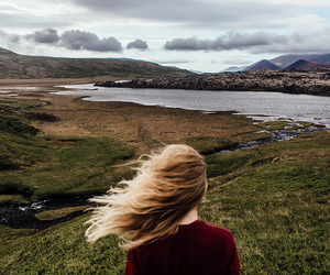 nature, hair, and landscape image