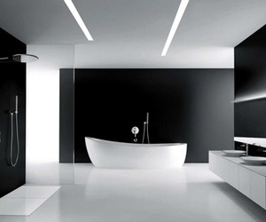 bathroom, black, and modern image