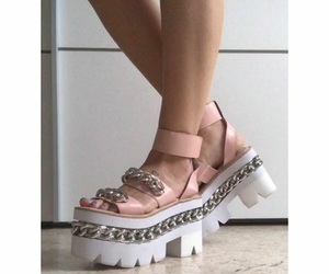 jeffrey campbell, flatforms, and pink shoes image