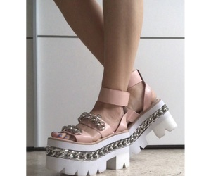 jeffrey campbell, pink shoes, and crazy shoes image