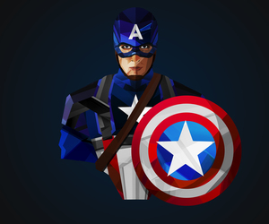 girl, clothes, and captain america image