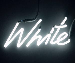 alternative, neon, and white image