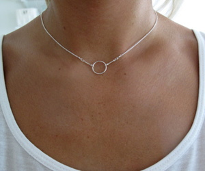 necklace, silver, and jewelry image