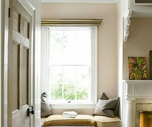 home decor, nook, and window seat image