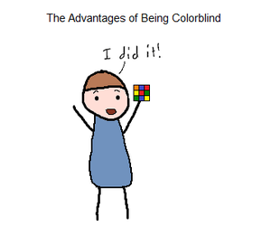 funny, colorblind, and color image