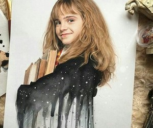harry potter, hermione, and art image