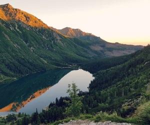 lake, mountain, and mountains image