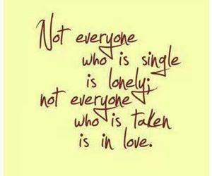 love, single, and quote image