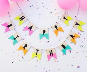 birthday, happy birthday, and balloons image