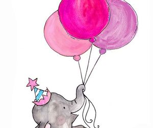 bubble gum, happy, and elephant image