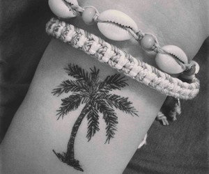 palm, summer, and tattoo image