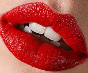 lips, sexy, and red lips image