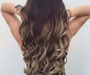 ombre, brunette, and girl image