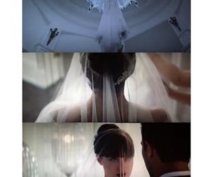 bride, dakota johnson, and jaime dornan image