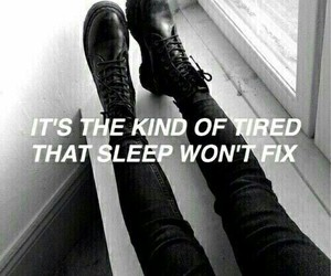 tired, quotes, and black image