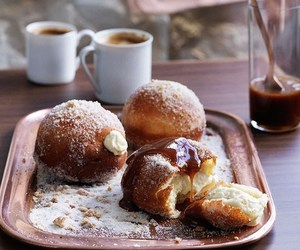 donuts, caramel, and food image