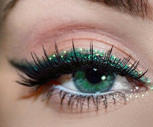 artistic, green, and makeup image
