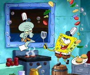 cartoons, nickelodeon, and spongebob image