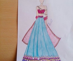 artistic, drawing, and fashion image