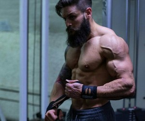 beard, sexy, and strongman image