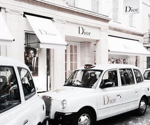 dior, white, and car image